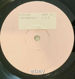 AUTECHRE Rare Mastering Copy Incunabula Test Pressing 2LP Warp Aphex IDM 1993