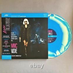 Atomic Blonde Soundtrack 2LP Vinyl Record Colored Blue Yellow Swirl MONDO