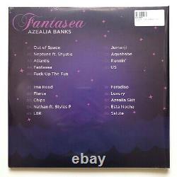 Azealia Banks'fantasea' Mixtape Purple & Blue Swirl Splatter 2lp Vinyl Record