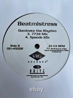 Beatmistress DOMINAT THE RHYTHM 12 Vinyl Breaks Techno Electro Simply Jeff RARE