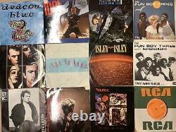 Box 150+ Original Vinyl 7 Records all 70s 90s Soul, Rock, Indie & Electro