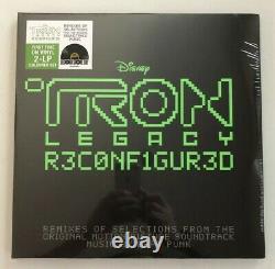 DAFT PUNK TRON Legacy Reconfigured RSD GREEN Vinyl Record 2LP- New & Sealed