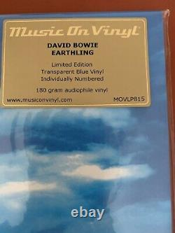 DAVID BOWIE Earthling MOVLP815 BLUE Numbered Vinyl LP RARE Music On Vinyl NEW