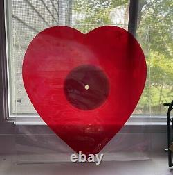 Jeffree Star Heart Shaped Red Vinyl Record Limited Edition