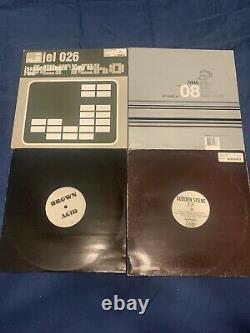 Lot of 50 techno vinyl records EDM