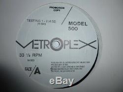 Model 500 Testing 1-2 Promo 1986 Metroplex Records M-005 Detroit Techno