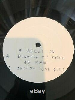 R. Solution Blowing My Mind Reinforced Records RIVET 1207 RARE NM 1991