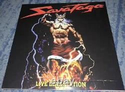 Savatage Live Devastation Double Lp 100 Made Heavy Metal Rare Accept Chastain
