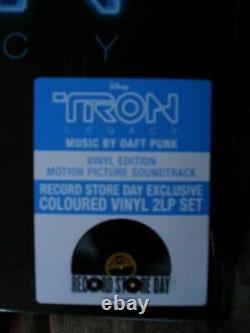 TRON LEGACY OST Soundtrack Daft Punk Limited BLUE Vinyl 2 LP Disney RSD 2020 New