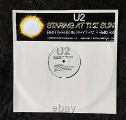 U2 STARING AT THE SUN 2 x12 UK VINYL PROMO SET FREE UNIQUE PIC OUTER WALLET
