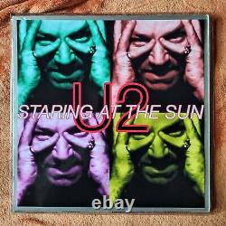 U2 STARING AT THE SUN 2 x12 UK VINYL SET FREE UNIQUE PIC OUTER WALLET