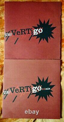 U2 Vertigo Uk Vinyl Set Free Unique Pic Outer Sleeve/wallet